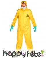 Combinaison jaune anti contamination pour adulte