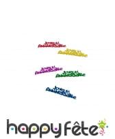 Confettis joyeux anniversaire multicolores de 5cm, image 2