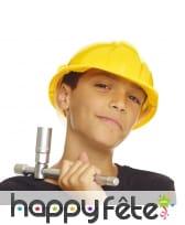 Casque jaune de chantier pour enfant