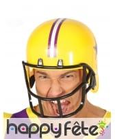 Casque jaune de rugbyman pour homme