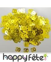 Confettis jubilee n°50 dorés