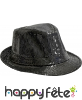 Chapeau Justin pailletté noir
