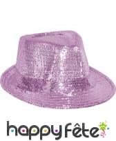 Chapeau Justin pailletté rose