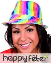 Chapeau Justin rainbow