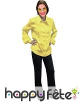 Chemise jaune super ruche femme