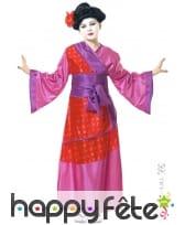 Costume kimono rose de petite chinoise