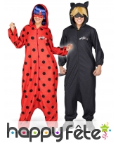 Combinaison Ladybug avec loup et perruque, adulte, image 1