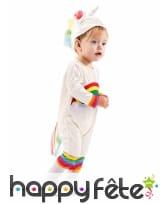Combinaison licorne arc-en-ciel pour bébé, image 1