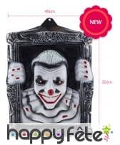 Clown lumineux dans un cadre de 50x40cm, image 1