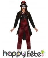 Costume ligné de sorcière vaudou pour femme