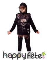 Costume lugubre de as squelette pour enfant