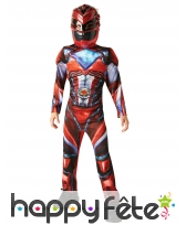 Costume luxe de Power Rangers rouge pour enfant, image 1