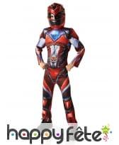 Costume luxe de Power Rangers rouge pour enfant