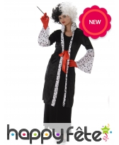 Costume long manteau de cruella d'enfer