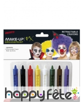 Crayons maquillages 8 couleurs