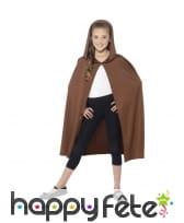 Cape marron avec capuche pour enfant, image 1