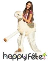 Carry me à dos de lama pour adulte, image 1