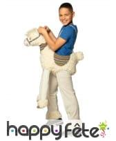 Carry me à dos de lama pour enfant