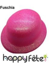 Chapeau melon à paillettes fluo, image 2