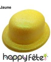 Chapeau melon à paillettes fluo, image 4