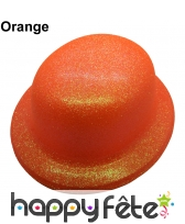 Chapeau melon à paillettes fluo, image 5
