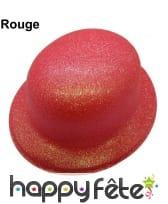 Chapeau melon à paillettes fluo, image 6