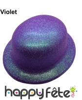 Chapeau melon à paillettes fluo, image 8