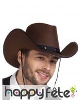 Chapeau marron camel de cowboy en feutrine, image 2