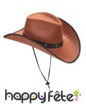 Chapeau marron camel de cowboy en feutrine