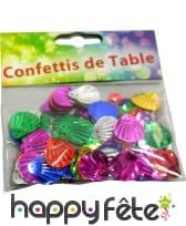 Confettis multicolores coquillages