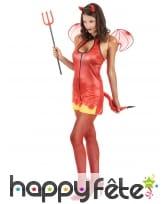 Costume moulant court de diablesse rouge, image 1