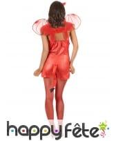 Costume moulant court de diablesse rouge, image 2