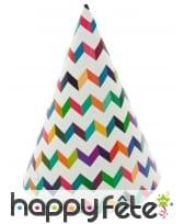 Cotillons motifs chevrons colorés, image 1