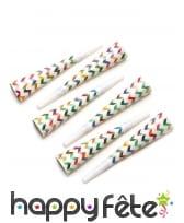 Cotillons motifs chevrons colorés, image 2