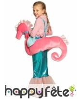 Carry me de sirène à dos d'hippocampe pour fille, image 1