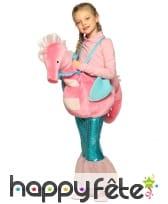 Carry me de sirène à dos d'hippocampe pour fille
