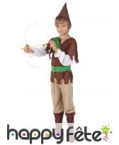 Costume marron de petit robin des bois, image 2