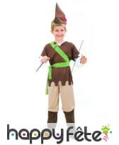 Costume marron de petit robin des bois