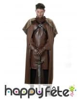 Costume marron de roi chevalier médiéval
