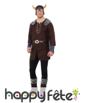 Costume marron de Viking pour homme adulte