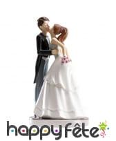 Couple marié décoratif pour pâtisserie