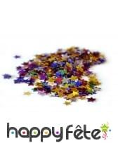 Confettis multicouleure en etoiles
