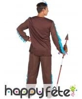 Costume marron et bleu d'Indien pour homme, image 2