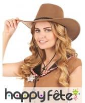 Cowboy marron en suedine, luxe, image 1