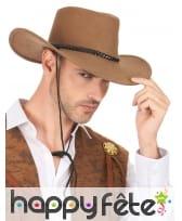 Cowboy marron en suedine, luxe, image 2