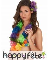 Collier multicolore Hawaïen en tissu, image 1