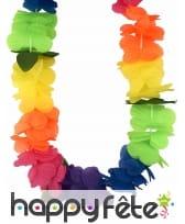 Collier multicolore Hawaïen en tissu