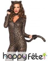 Combinaison moulante imprimé léopard, image 1