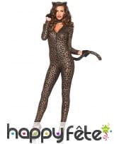 Combinaison moulante imprimé léopard