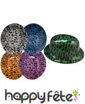 Chapeau melon leopard en plastique, image 1
